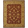 Indo Handmade Sumak Flatweave Foli Red/ Beige Wool Rug (4' x 6')