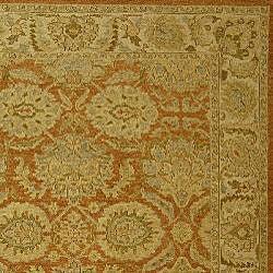 Indo Sumak Flatweave Ancestry Rust/ Beige Wool Rug (9' x 12')