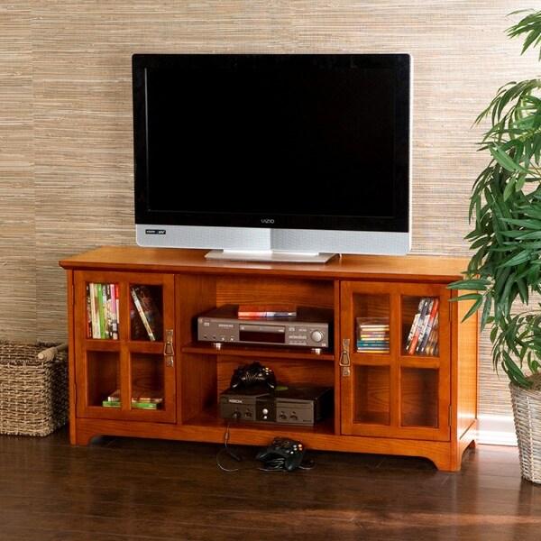 Upton Home Highland Mission Oak Media Stand