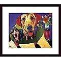 Ron Burns 'Molly, Moe & Jack' Wood Framed Art Print