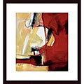 Eva Carter 'Movement in Red' Wood Framed Art Print