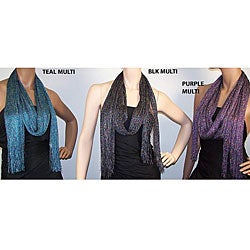 Symphony Designs Multicolor Metallic Mesh Scarves (Set of 3)