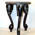 Three-legged African Elephant Accent Table (Ghana)