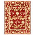 Hand-knotted Red Wool Laquan Rug (10' x 14')