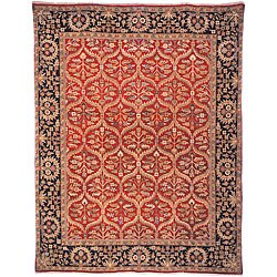 Heirloom Treasures Hand-knotted Red Rug (5' x 7'6)