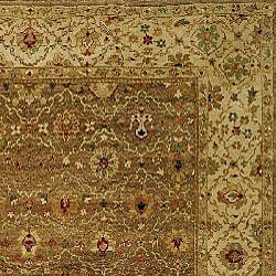 Heirloom Treasures Hand-knotted Beige Wool Rug (6' x 9')