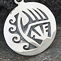 Sterling Silver Southwestern Tribal Design Pendant (Mexico)