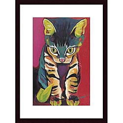 Ron Burns 'Squirt' Wood Framed Art Print