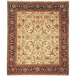 Oushak Legacy Hand-knotted Wool Heirloom Ivory/ Blue Rug (8' x 10')