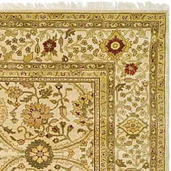 Oushak Legacy Hand-knotted Ivory Wool Rug (8' x 10')