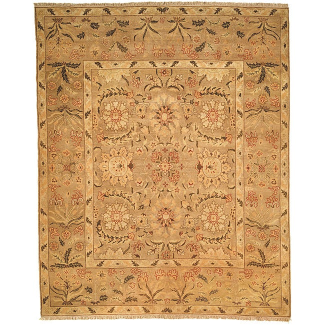Oushak Legacy Hand-knotted Camel Wool Rug (6' x 9')