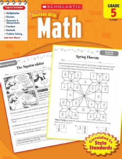Scholastic Success With Math, Grade 5 (Paperback)