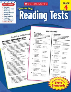 Scholastic Success With Reading Tests, Grade 4 (Paperback)