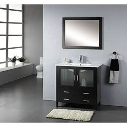 Virtu USA Single-sink 35.5-inch Bathroom Vanity Set