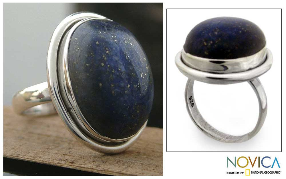 'Universe' Lapis Lazuli Cocktail Ring (India)