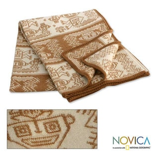'Paracas Coast' Alpaca Wool Blanket (Peru)