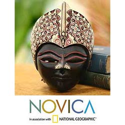 Wood 'Princely Magic' Batik Mask (Indonesia)