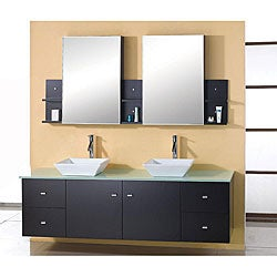 Virtu USA Clarissa 72-inch Double Sink Bathroom Vanity Set
