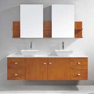 Virtu USA Clarissa 72 Inch Double Sink Bathroom Vanity Set Overstock Shoppi