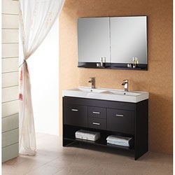 Virtu USA Gloria 48-inch Double Sink Bathroom Vanity Set