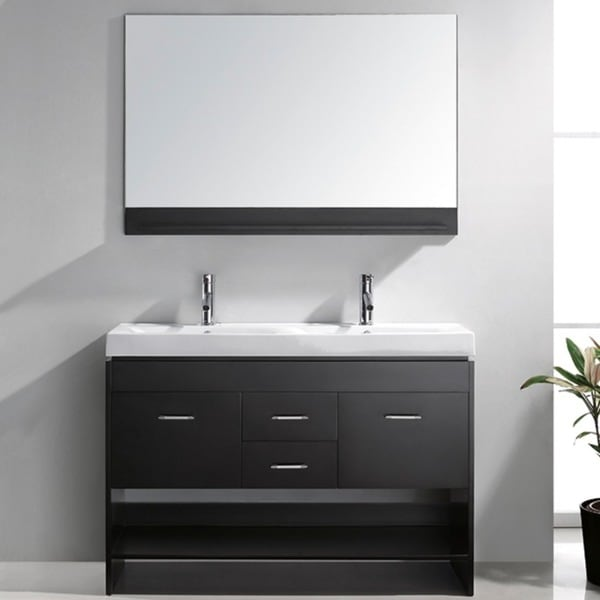 Virtu USA Gloria 48 Inch Double Sink Bathroom Vanity Set 12319914 Oversto