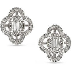 Miadora 10k Gold 1/4ct TDW Diamond Flower Earrings (H-I, I1-I2)