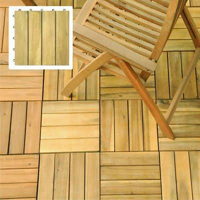 Premium Plantation Teak 4-slat Deck Tiles (Box of 10)