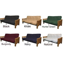Yosemite Queen-size Rustic Lodge Frame with Inner Spring Futon Mattress Set