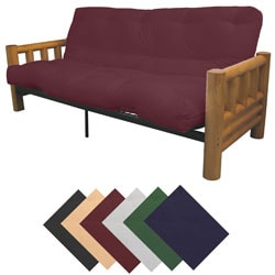 Yosemite Full Rustic Lodge Frame/Splendor Mattress Futon Set