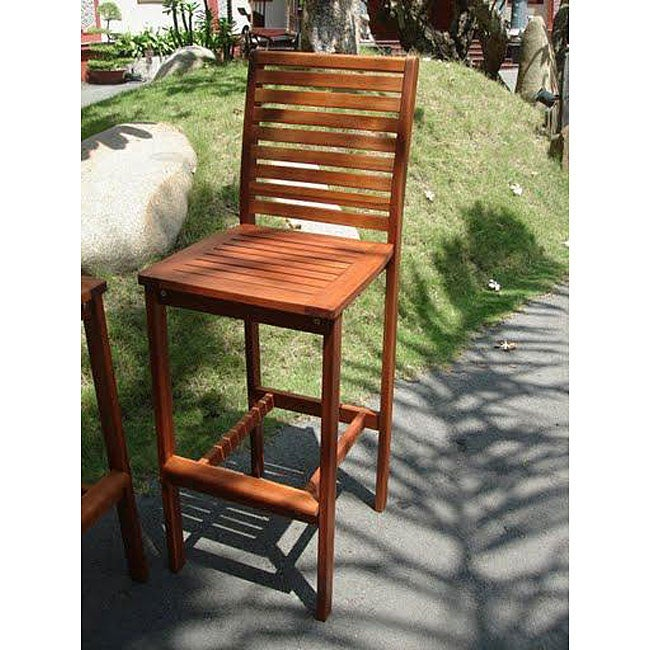 Dartmoor Plantation Grown Teak Wood Bar Chair Overstock