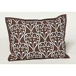 Bacati Damask Chocolate Decorative Pillow