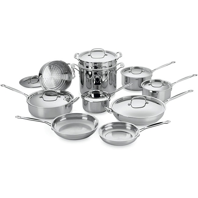 Cuisinart Chef's Classic Stainless Steel 17-piece Cookware Set