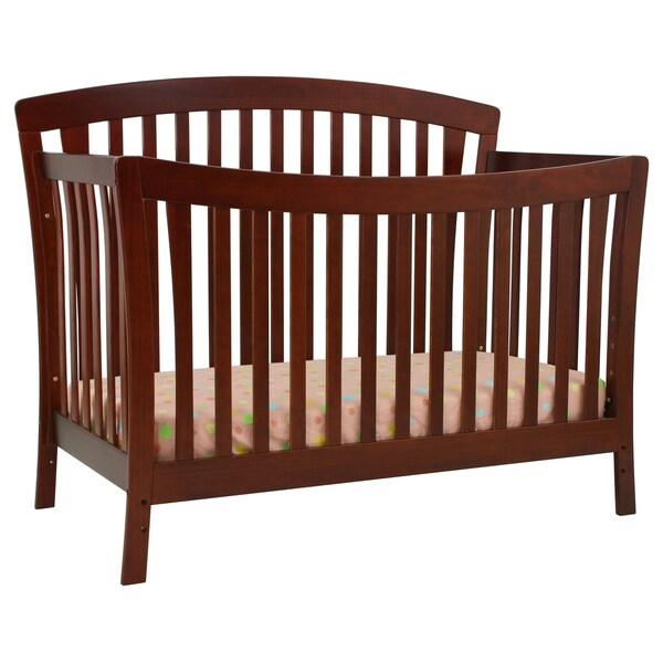 DaVinci Rivington 4-in-1 Convertible Crib with Toddler Rail in Cherry
