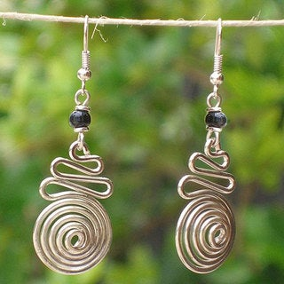 Ribbon Candy Electroplated Earrings (Kenya)