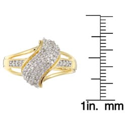 Sterling Silver/ 14k Gold Vermeil 1/4ct TDW Diamond Ring (K-L, I1-I2)