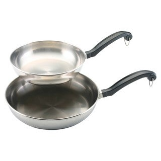 Farberware Classic Series Twin Pack: 8-inch and 10-inch French Skillets, Stainless Steel