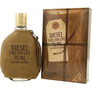 Diesel Fuel For Life Men's 2.5-ounce Eau de Toilette Spray