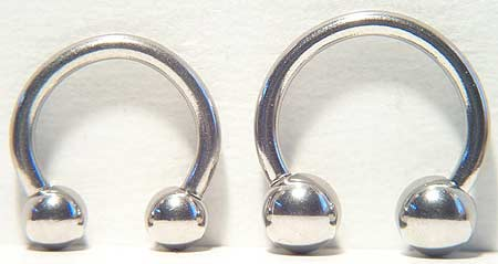 CGC Surgical Steel 14-gauge Circular Barbell Belly Ring