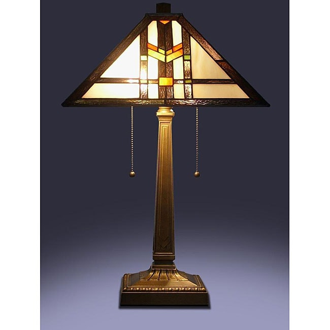 tiffany style mission table lamp 12325128 shopping. Black Bedroom Furniture Sets. Home Design Ideas