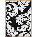 Hand-tufted Courtney's Leaves White Wool Rug (5' x 8')