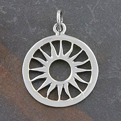 Sterling Silver 'Sun' Pendant (Thailand)