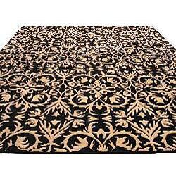 Hand-tufted Black Wool Marla Rug (8' x 10')