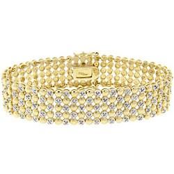 Finesque Sterling Silver Two-tone 1ct TDW Diamond 5-row Bracelet (J-K, I3)