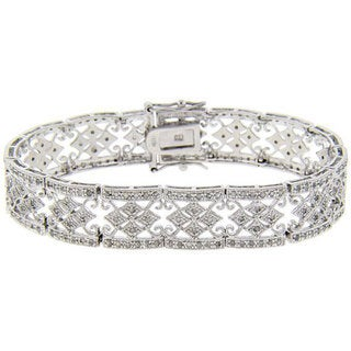 Sterling Silver 1ct TDW Diamond Bracelet (J-K, I3)