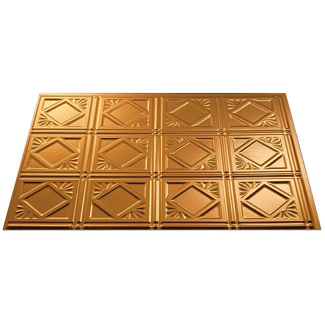 self stick copper vinyl wall tiles backsplash 4 x4 3 square feet