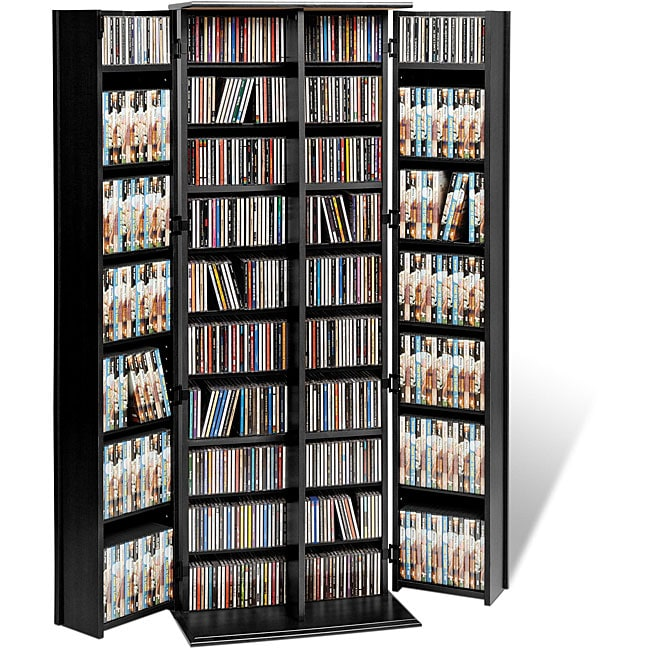 Overstock.com Broadway Black Large Deluxe CD/ DVD Media Storage at Sears.com