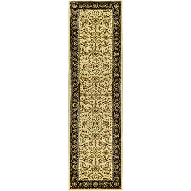 Safavieh Lyndhurst Collection Majestic Ivory/ Black Runner (2'3 x 12')