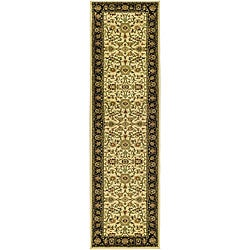 Lyndhurst Collection Majestic Ivory/ Black Runner (2'3 x 12')