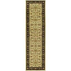 Safavieh Lyndhurst Collection Majestic Ivory/ Black Runner (2'3 x 16')