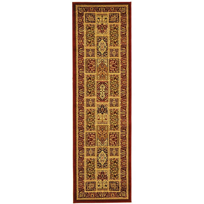 Safavieh Lyndhurst Collection Isfan Red/ Multi Runner (2'3 x 14')